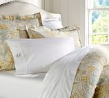 Celeste Damask Duvet Cover, Twin, Gold