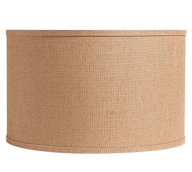 burlap straight sided drum lamp shade pottery barn. Black Bedroom Furniture Sets. Home Design Ideas
