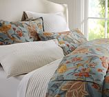Cynthia Palampore Duvet Cover, Twin, Blue