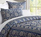 Calista Floral Duvet Cover, Twin, Blue