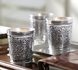 Silver Embossed Votive Holder, Set of 3