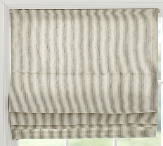Mini Stripe Cordless Roman Shade, 44 x 64