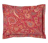 Piper Floral Sham, Standard, Red