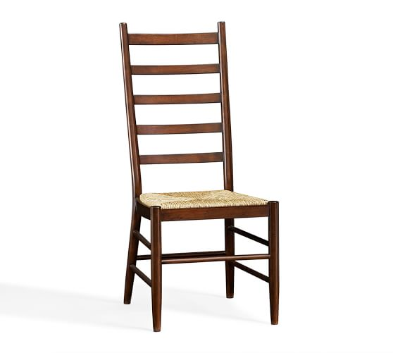 Sadie Ladderback Dining Side Chair, Tuscan Chestnut stain
