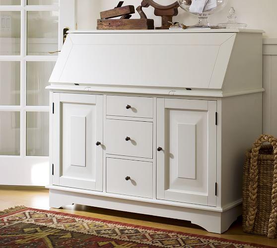 Graham Desk/Bar, Antique White