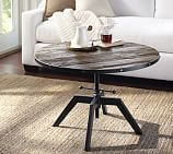 Blaine Reclaimed Wood Adjustable Round Coffee Table