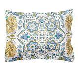 Cora Paisley Organic, Sham, Standard, Blue Multi