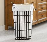 Umbrella Stand Metal Hamper & White Liner