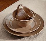 Cambria Dinnerware, 16-Piece Soup Bowl Set, Mushroom