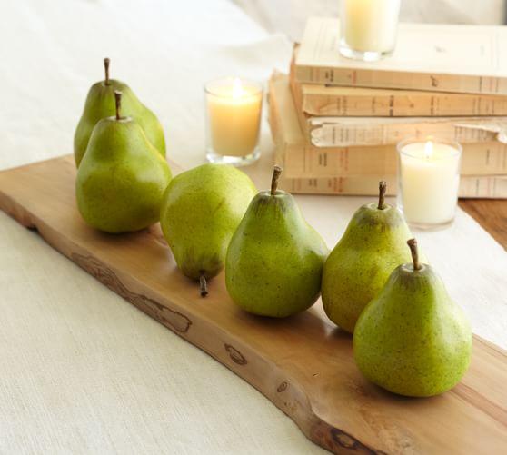 Green Pear Vase Filler, Set of 6