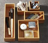 Bamboo Drawer Organizers, Set of 5
