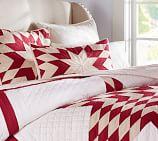 Red Starburst Quilt, Twin