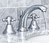 Warby Cross-Handle Widespread Bathroom Faucet, Chrome finish