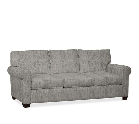 Buchanan roll arm upholstered sleeper sofa pottery barn for Sofa bed 70 off