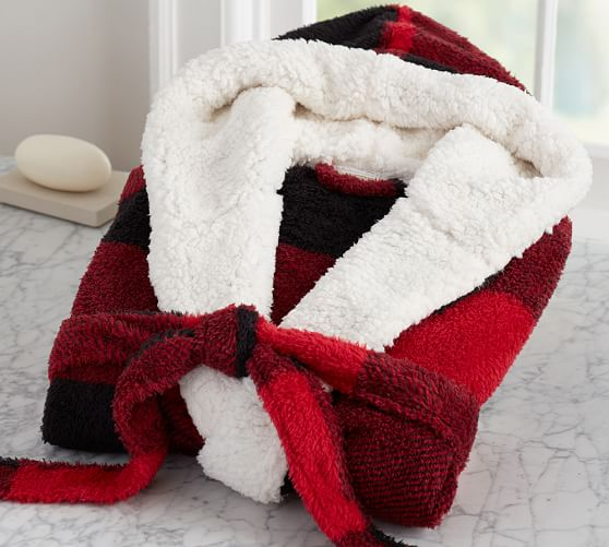 cozy sherpa robe