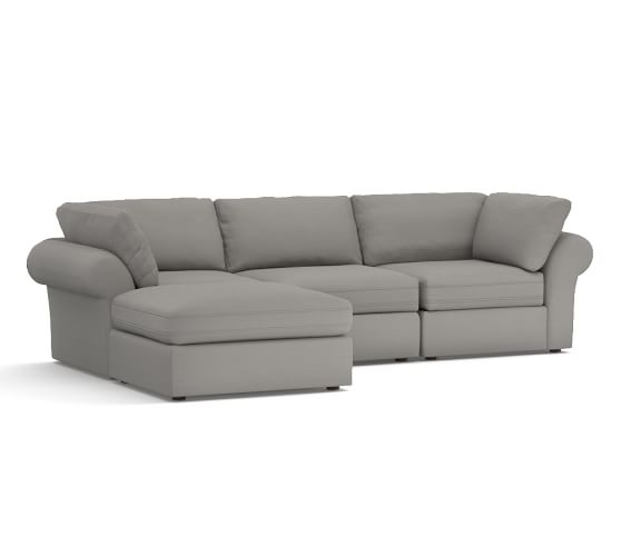 Pb air upholstered 4 piece sofa with chaise sectional for 4 piece sectional with chaise