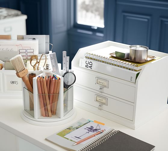 Bedford Two Drawer Paper Organizer