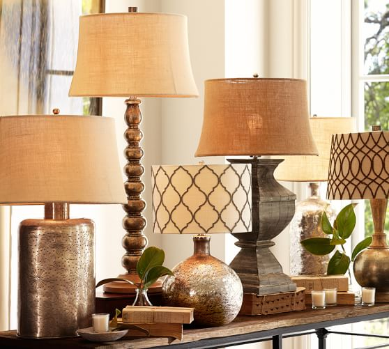 Pottery Barn Beaded Lamp Shade: Moroccan Beaded Drum Shade