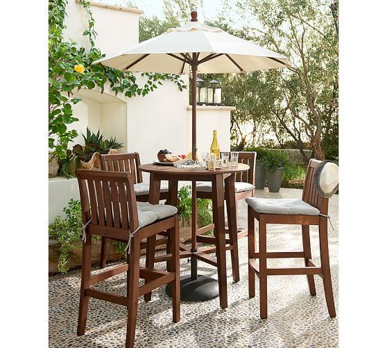 Tufted Outdoor Dining Chair Cushion Solid