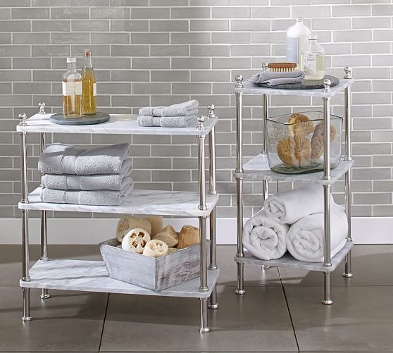Metal & Marble Etagere | Pottery Barn