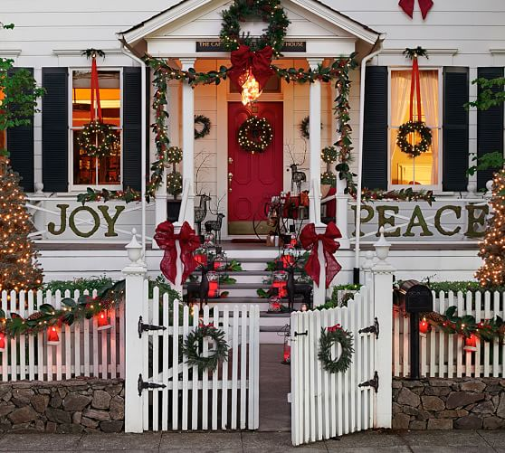outdoor christmas decorations pottery barn