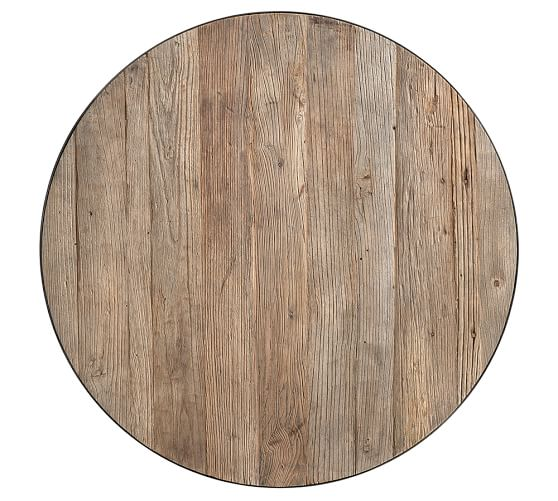 Bartlett Reclaimed Wood Metal Side Table Pottery Barn