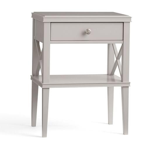 Clara wide dresser 2 lattice narrow bedside tables set for Tall slim bedside table