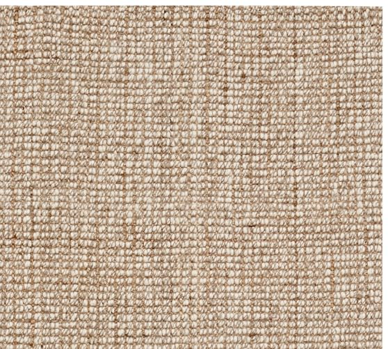 Chunky Wool amp Jute Rug Natural Pottery Barn