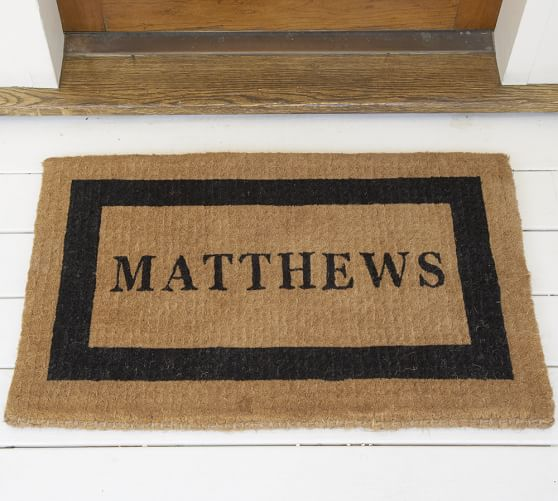 Personalized Doormat Pottery Barn