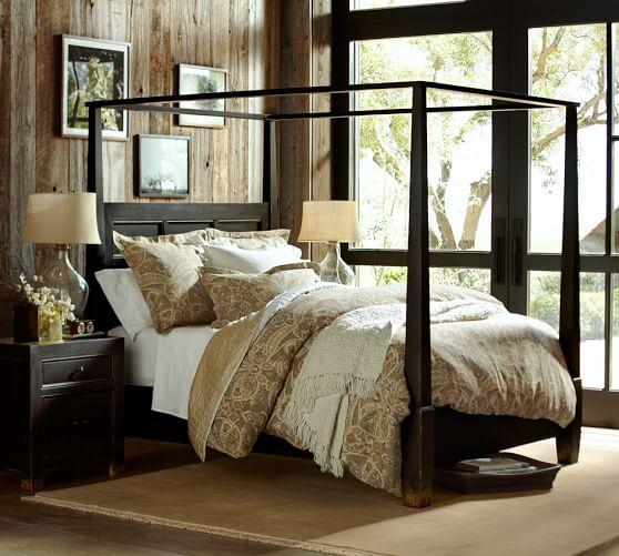 Dawson Canopy Bed & Dresser Set