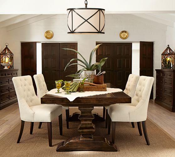 Kitchen Chandlier Over Round Table