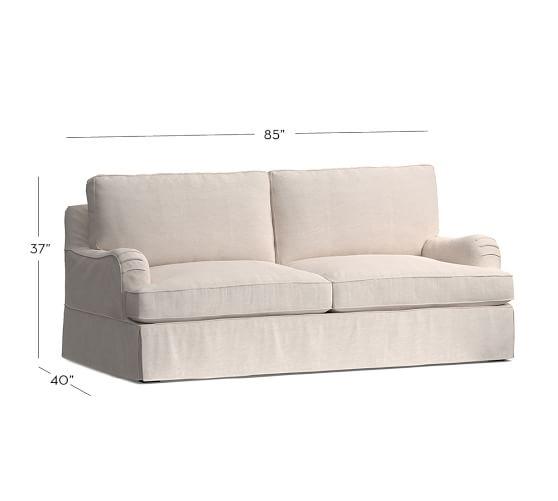 PB Comfort English Arm Slipcovered Sleeper Sofa