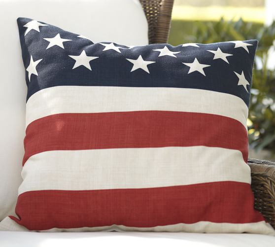 American Flag Pillow Cover Pottery Barn