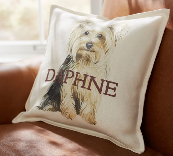 personalized painted dog pillow covers