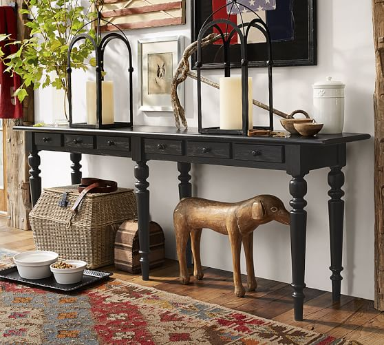 Sofa Tables Pottery Barn: Tivoli Long Console Table