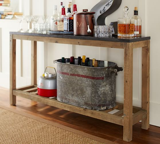 Connor Console Table Limestone Pottery Barn