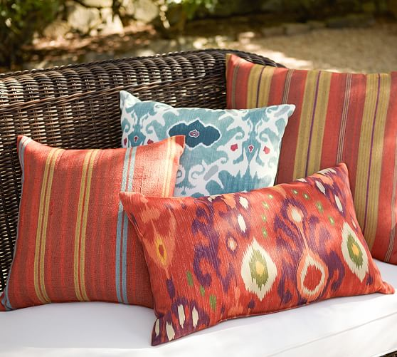 Pottery Barn Pillows Clearance: Rennie Stripe Indoor/Outdoor Pillow