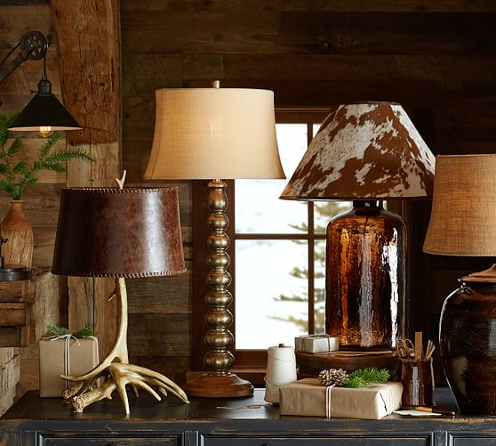 Pb Basic Cowhide Lamp Shade Pottery Barn