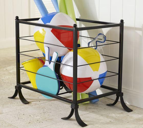 bronze pool accessory storage bin pottery barn. Black Bedroom Furniture Sets. Home Design Ideas
