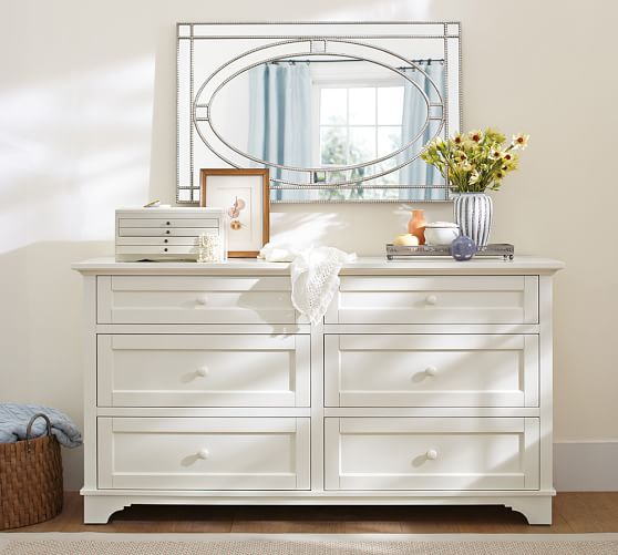 Mirrored dresser top trays pottery barn for Where can i find mirrors