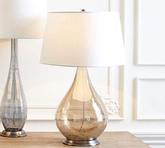 sophia crackled table lamp pottery barn. Black Bedroom Furniture Sets. Home Design Ideas