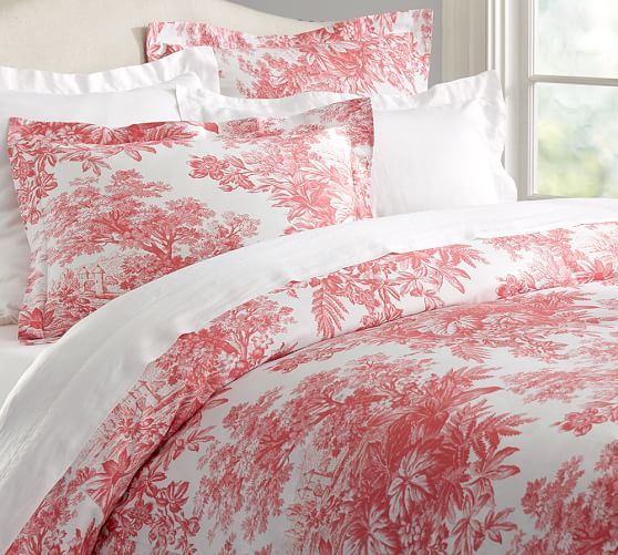 matine toile duvet cover sham pottery barn. Black Bedroom Furniture Sets. Home Design Ideas