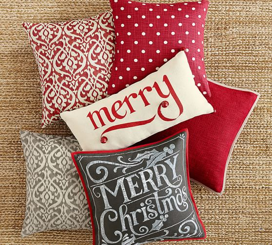 Merry Christmas Pillow Cover Pottery Barn