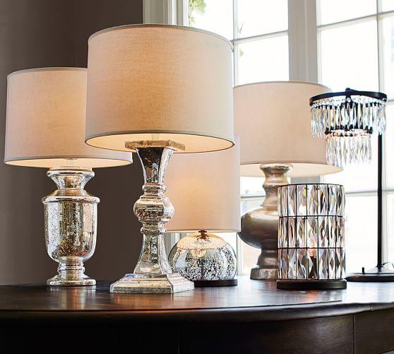 Mini Stacked Mercury Glass Table Lamp