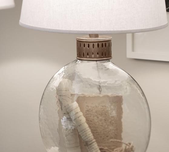 Julian Glass Table Amp Lamp