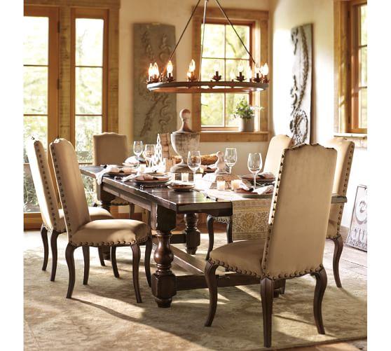 Pottery Barn Dining Room Lamp: Stanton Leaf Cup Indoor/Outdoor Chandelier