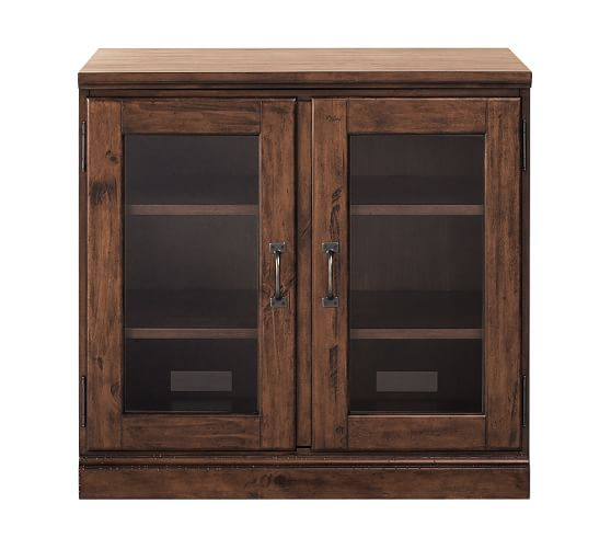 printer 39 s double glass door cabinet pottery barn. Black Bedroom Furniture Sets. Home Design Ideas