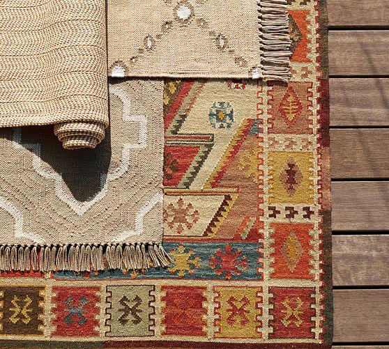 Gianna Recycled Yarn Kilim Indoor Outdoor Rug