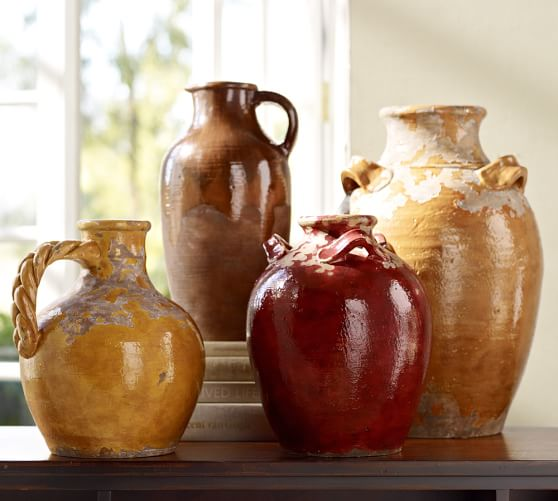 Sicily Terra Cotta Vases Pottery Barn