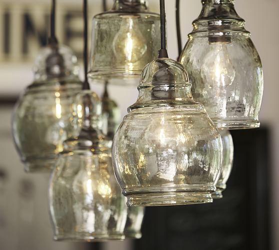 Kitchen Pendant Lighting Pottery Barn: Paxton Glass 8-Light Pendant